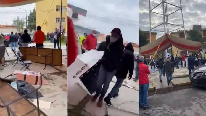 Video: Destruyen casilla electoral e intentan robar boletas en Edomex