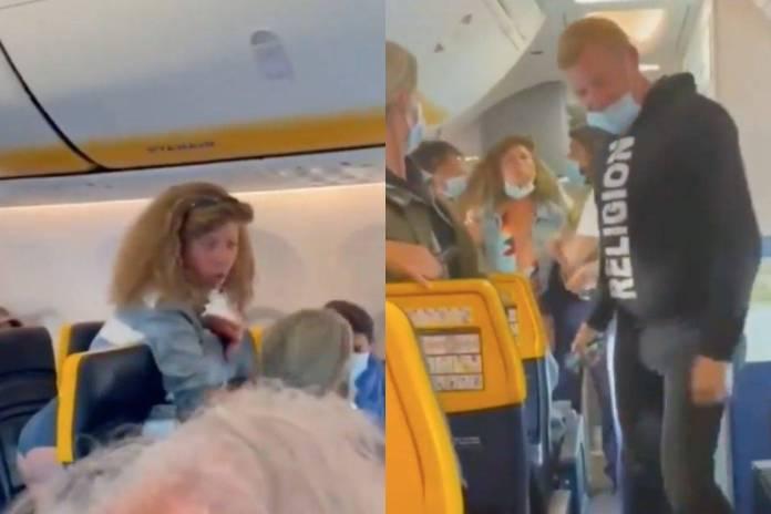 Mujer escupe y golpea a pasajeros de avión que le piden usar cubrebocas