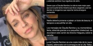 Critican a Claudia Ramírez por comentario ante muerte de Antonio Helguera