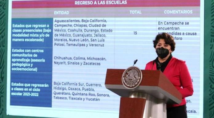Ya egresaron a las aulas 15 estados: Delfina Gómez