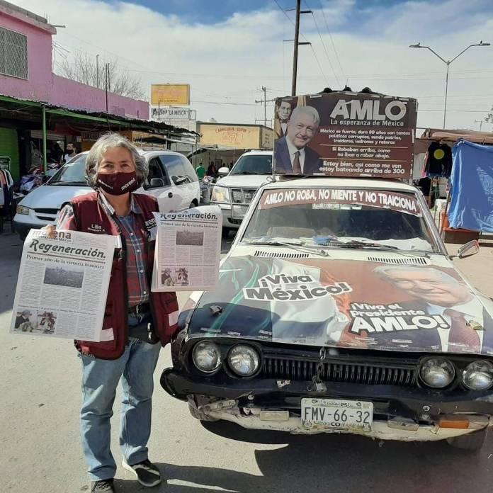 3 7 - Queman datsun tapizado de mensajes de AMLO y en pro de la 4T #AMLO
