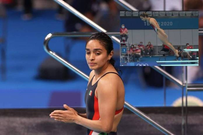 Mexicana realiza clavado de cero puntos en Tokio 2020