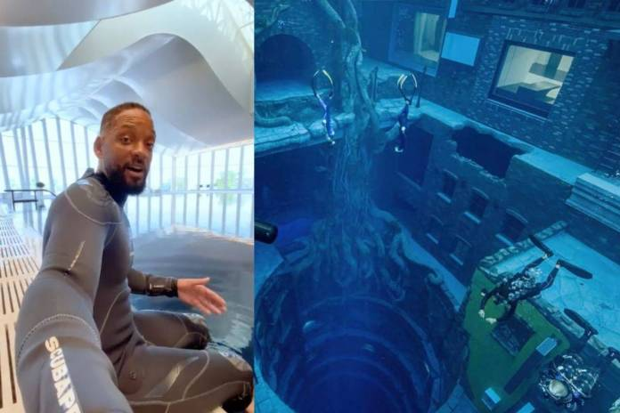 Will Smith muestra la piscina mas profunda del mundo