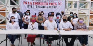 """Ciudadanos de Campeche y Tijuana de unen en un solo grito: """"sí a la consulta"""""""