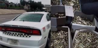 Atrapan a 4 sujetos con 8 mil cartuchos para fusil