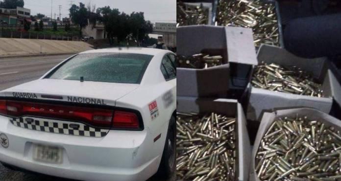 Guardia Nacional cartuchos  - Atrapan a 4 sujetos con 8 mil cartuchos para fusil