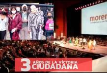 Morena festeja en el Auditorio Nacional