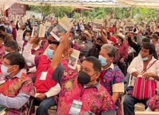 Más de 20 mil autoridades municipales, agrarias y comunitarias apoyan la Reforma Indígena