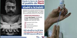 Convocan a mexicanos a ayudar a Cuba