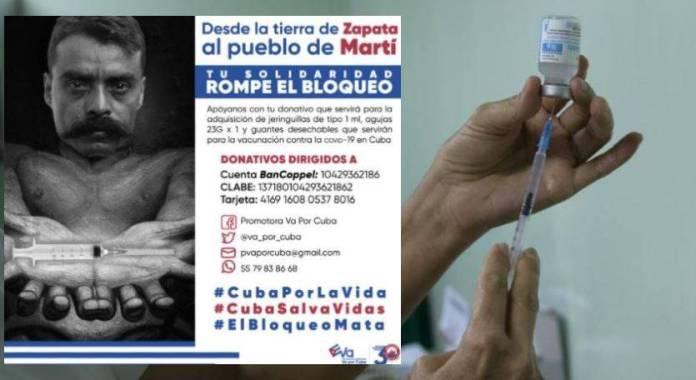 Convocan a mexicanos a ayudar al pueblo cubano