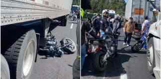 De acuerdo con el testimonio de un motociclista testigo del accidente en la México-Cuernavaca el motivo del accidente fue el exceso de velocidad.