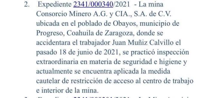 Mina que se derrumbó en Coahuila estaba restringida por la STPS