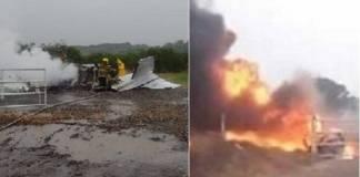 Avioneta se accidenta en Veracruz