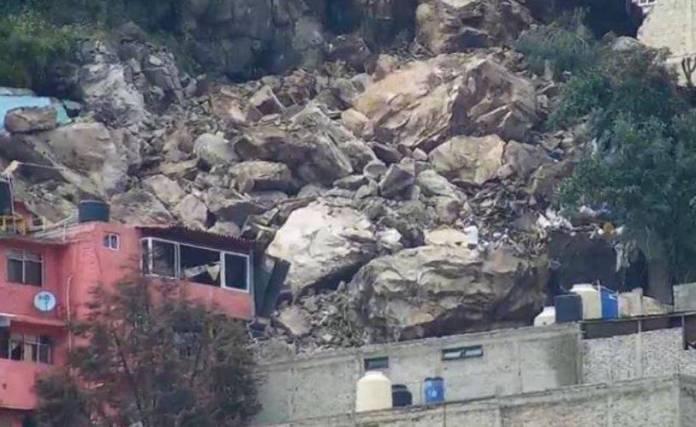 Se desgaja el cerro del Chiquihuite