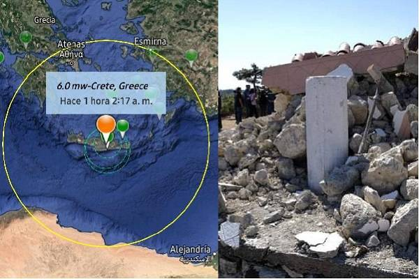 Sismo en Creta, Grecia