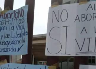 Organiza la iglesia movilización contra el aborto