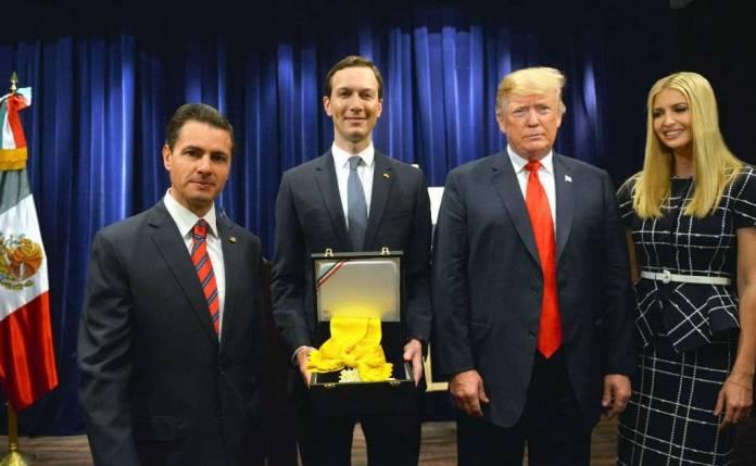 El día que EPN entregó la presea Águila Azteca a un Trump