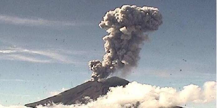 Volcán Popocatépetl 15 de septiembre