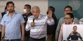Damnificados irrumpen evento de AMLO; reiteró que apoyo será directo