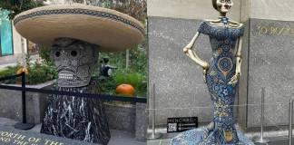 Alebrijes y catrinas zapotecas son exhibidos en el Rockefeller Center de Nueva York