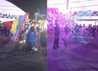 Juego mecánico se desplomó y dejó varios heridos en feria de Nuevo León