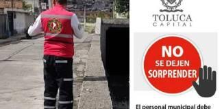Bomberos pirata en Toluca