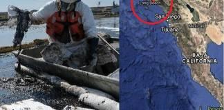 California: Petróleo crudo cubre casi 34 kilómetros cuadrados de mar. Uno de los peores desastres en décadas.
