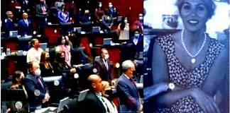 Celeste Batel es homenajeada por el Senado