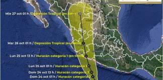 Huracán Rick podría alcanzar categoría 3