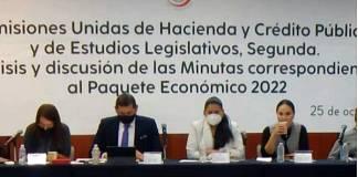 Senado aprueba en comisiones minuta fiscal