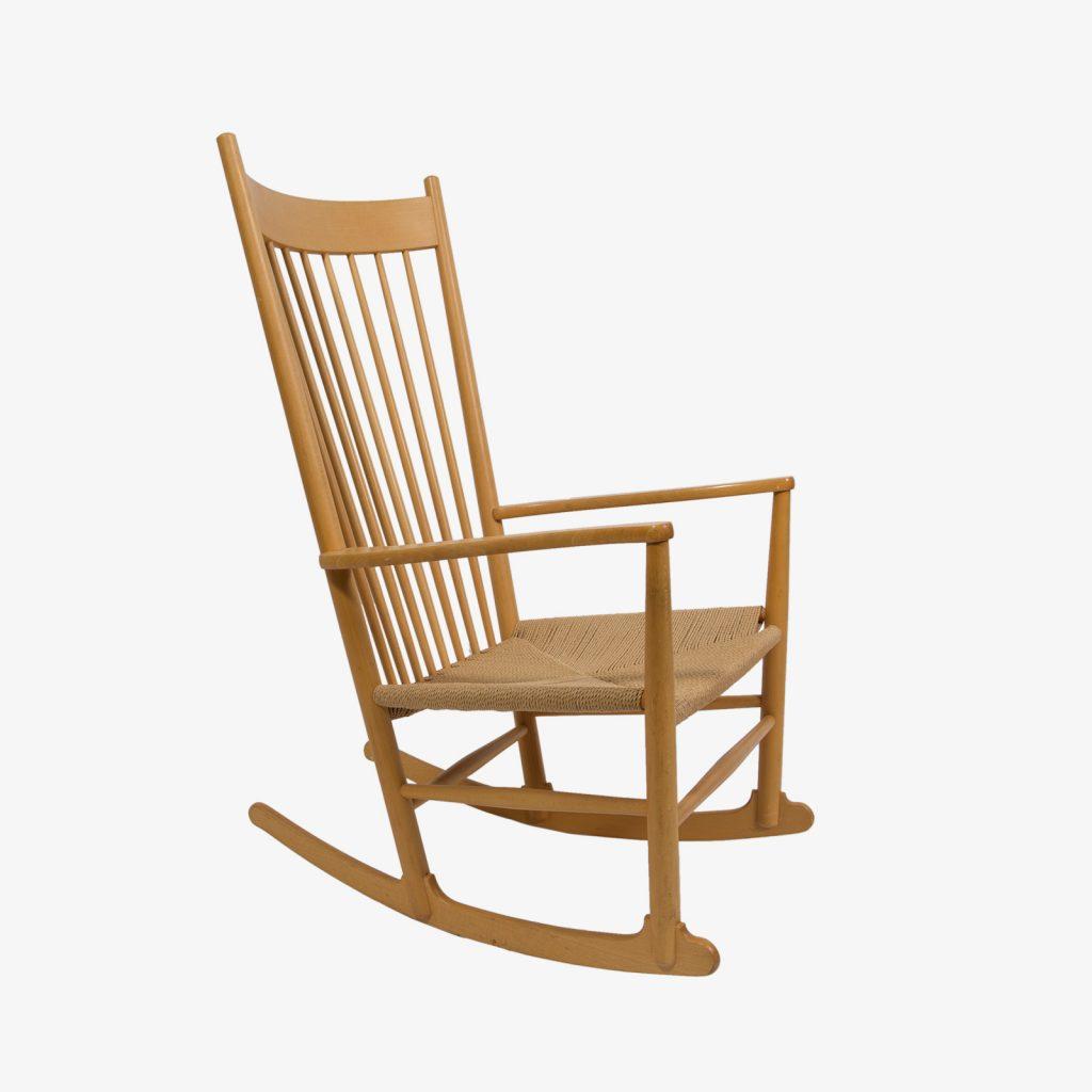 hans wegner rocking chair glider swivel mechanism regeneration beech with rope seat