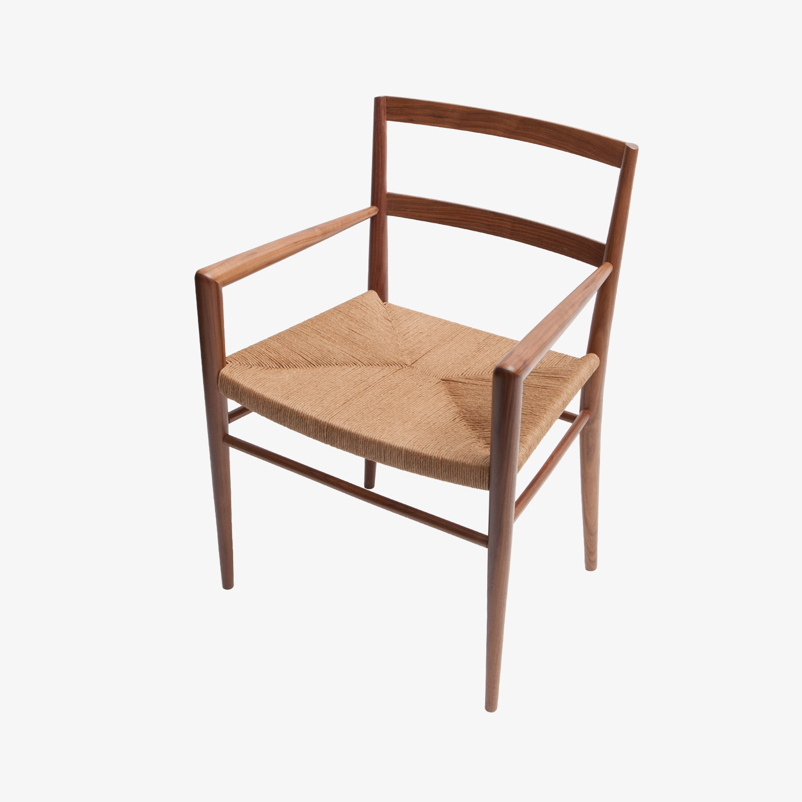Hand woven rush seat dining chair by Smilow Furniture