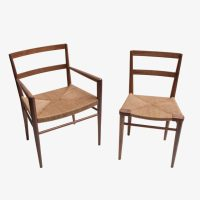Hand woven rush seat dining chair by Smilow Furniture ...
