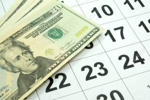 money calendar event rental