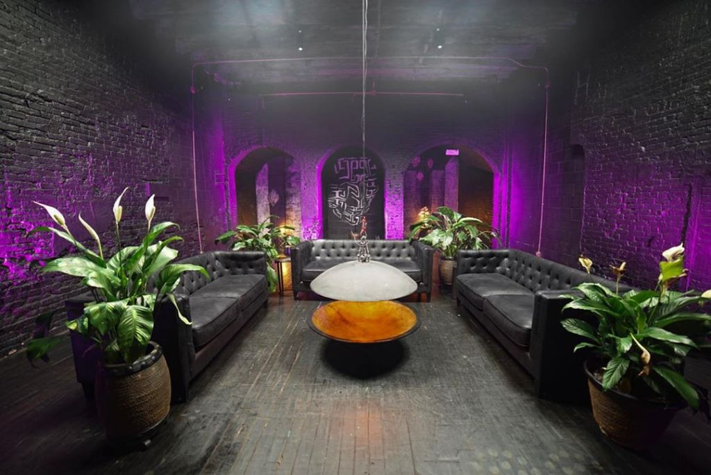 Black Room at event space Regency in Red Hook District of Brooklyn, New York