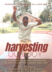 Harvesting joy black community empowerment wellness regency space