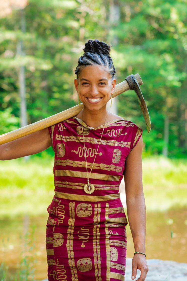 """Fighting food apartheid and empowering people of color to get back to the land with Leah Penniman, author of """"Farming While Black:"""" 091"""