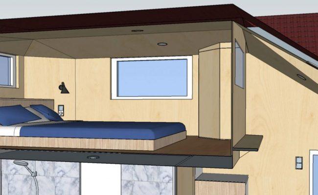Sonderausstattung Schlafloftwand Tiny Houses Für