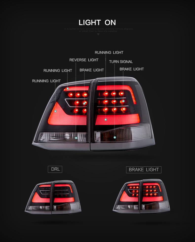 toyota landcruiser taillight taillamp tail lamp light