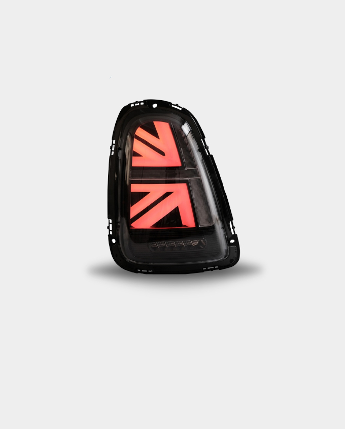mini cooper british flag tail lights