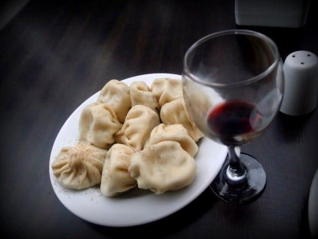 Georgian KHINKALI and Khvanchkara, 'Stalin's favorite wine'.