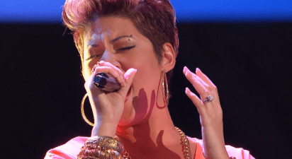 "Tessanne Chin Wows the judges and crowd with Pink's pop smash ""Try""!"