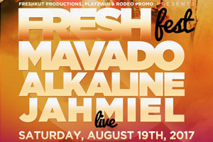 Fresh Fest 2017–Alkaline, Mavado & Jahmiel live Saturday August 19th outdoors at Woodbine Mall