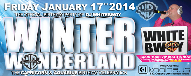 Winter Wonderland Capricorn Aquarius DJ Whitebwoy Birthday