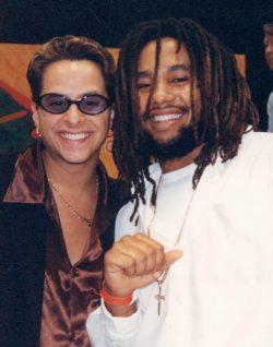 Kymani Marley with Tito Puente Jr in Miami