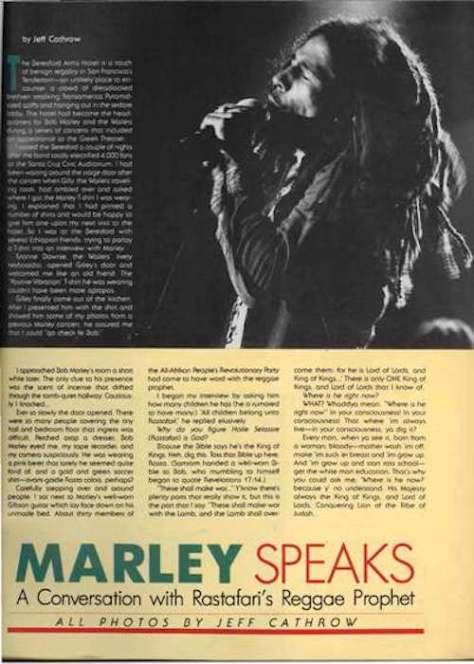 Bob Marley - Marley Speaks V8-4 1990