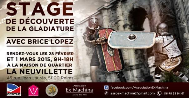 Stage Gladiature à Reims