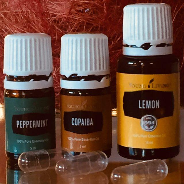 aceites esenciales menta piperita, copaiba y limón para detox