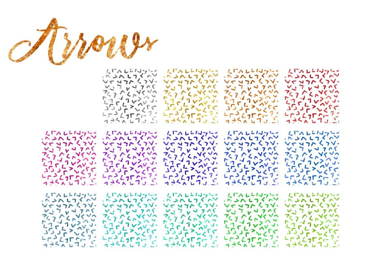 Glitter Texturen Endlosmuster 203 Elemente Set Pfeile