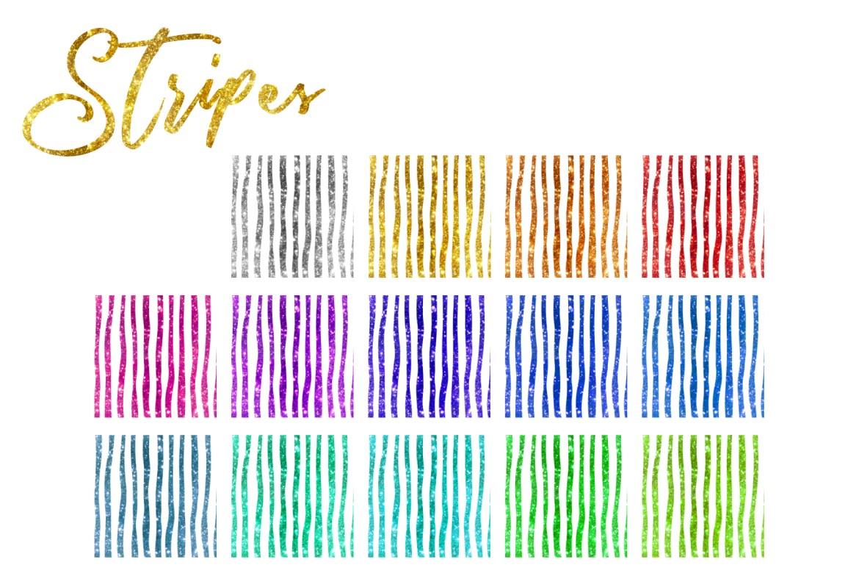 Glitter Texturen Endlosmuster 203 Elemente Set Streifen